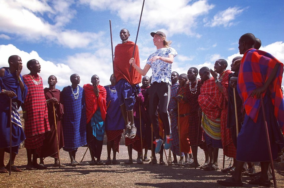 Maasai tribe on the way to Serengeti National Park