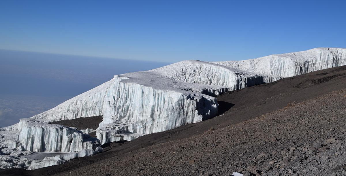 Glacier in Kilimanjaro