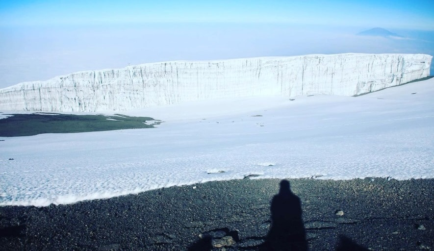 Important facts about the melting of a glacier in Kilimanjaro